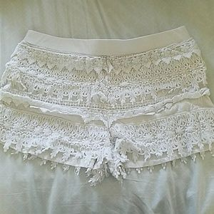 Ivory  Lace Shorties